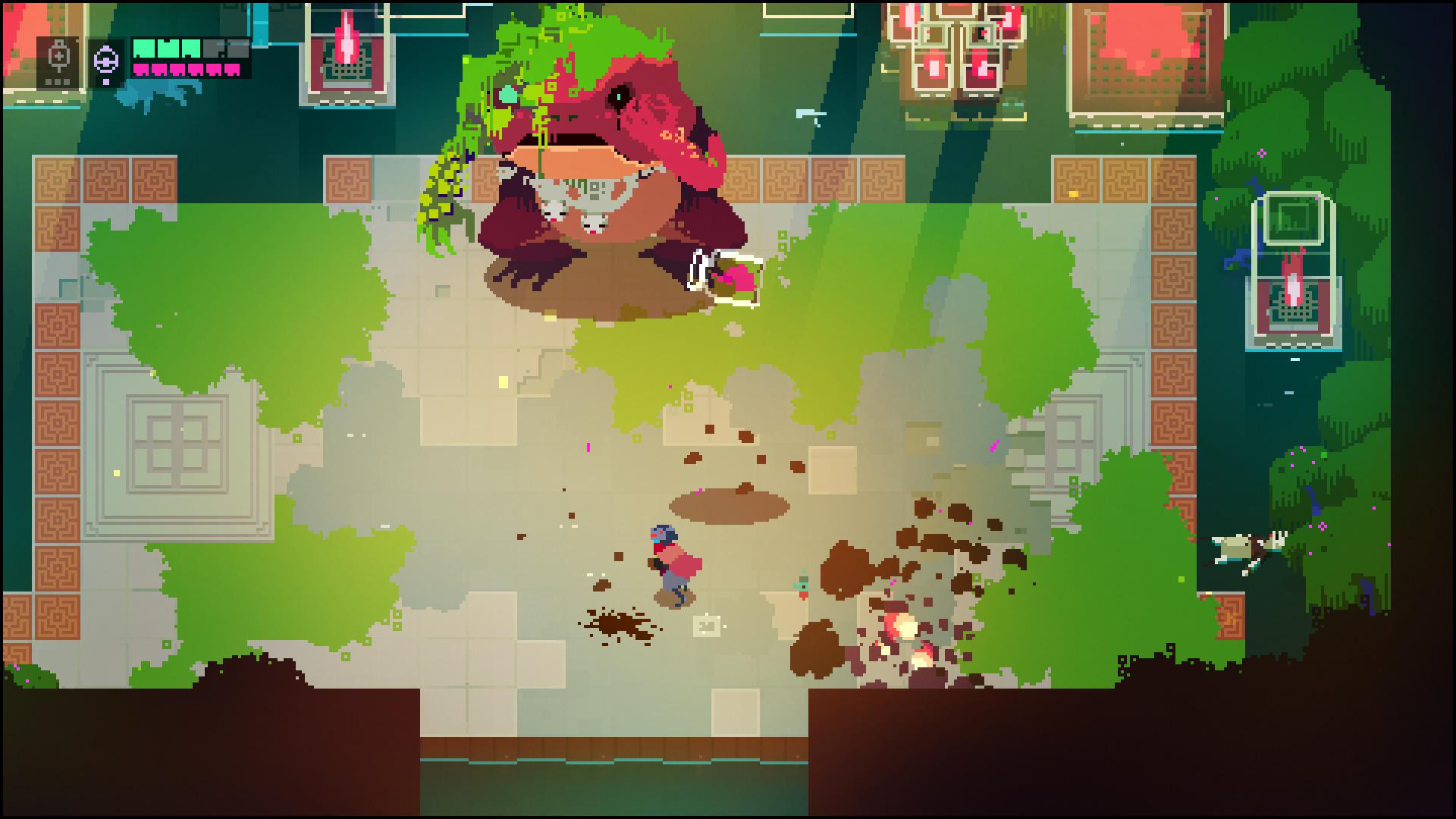 Hyper Light Drifter's pixel graphic