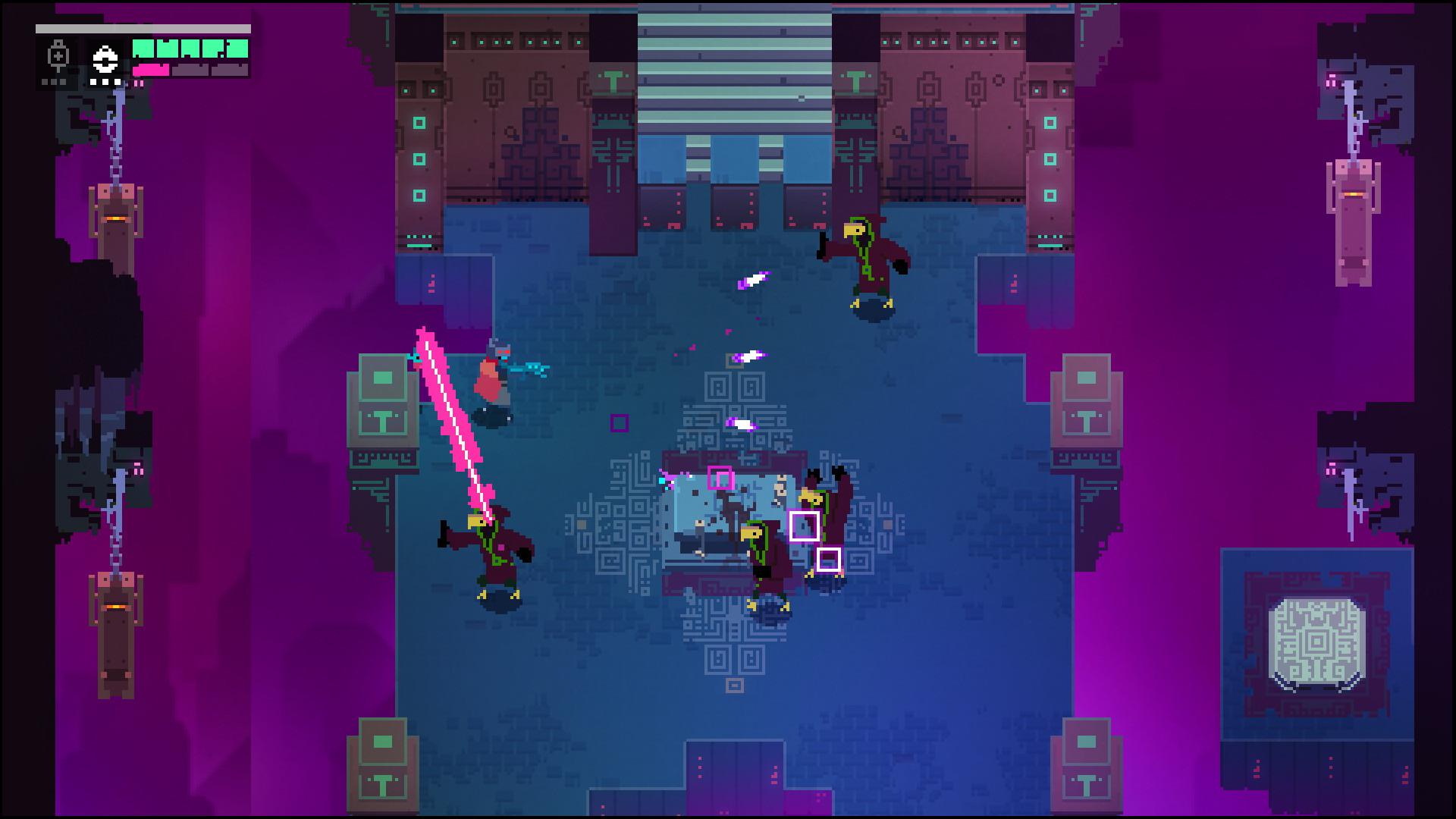 Hyper Light Drifter's purple highlight