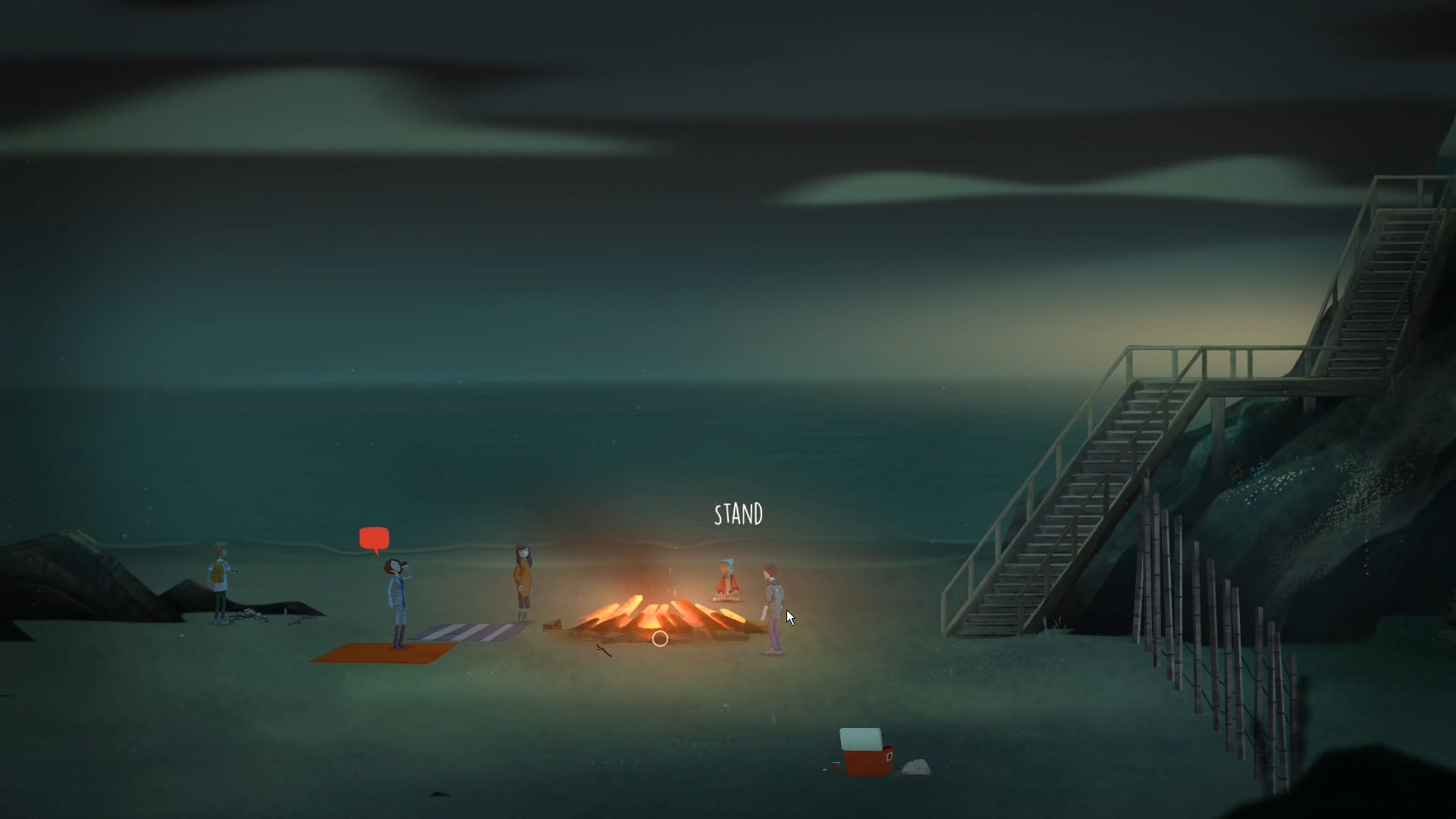 Screenshot of early gameplay